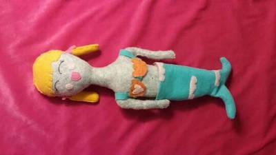 Fabric Mermaid Doll by AllDolledUpByEm