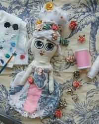 Marie Antoinette Fabric Doll by AllDolledUpByEm