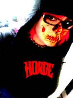 Half Face Zombie by DesireeCuppycake