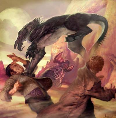 Dragon And Judge 015 by jonfosterstudios