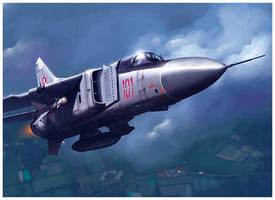 MiG-23Flogger Polish AIR Force by dugazm