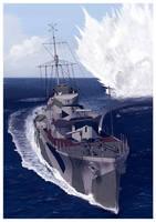 HMS Hesperus by dugazm