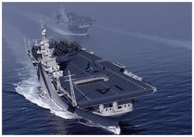 USS TICONDEROGA CV-14 by dugazm