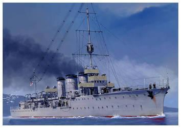 HMS CAROLINE by dugazm