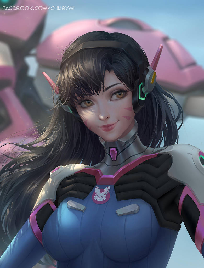 D.Va Over Watch by ChubyMi