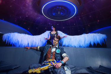 Handsome Jack and Angel - Borderlands 2 by MaryMustang01