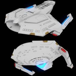 Star Trek Sabre Class 3D by AdamKop