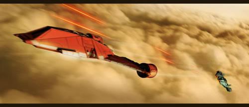 Star Wars Interceptor Battle by AdamKop