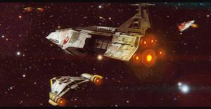 Star Wars Nebulon A Frigate Fleet by AdamKop
