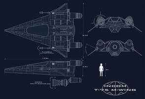 Incom T-75 M-wing Blueprints by AdamKop