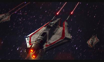 Star Wars Incom T-20 H-Wing by AdamKop