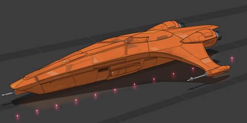 Star Wars Mon Calamari Gunboat by AdamKop
