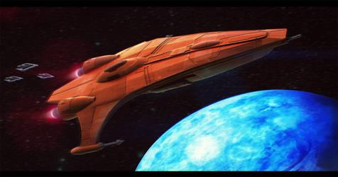 Star Wars Mon Calamari Gunboat 3D by AdamKop