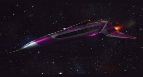 Sci-Fi 3D Shuttle Commision by AdamKop