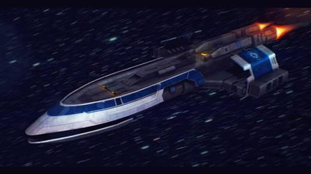 Star Wars CIS Gunboat 3D by AdamKop