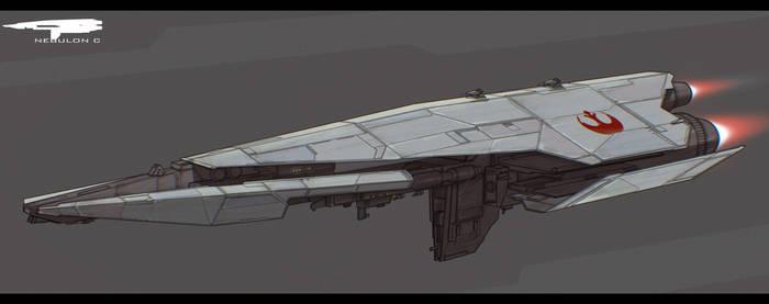 Star Wars Nebulon C Frigate by AdamKop