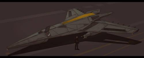 Star Trek post-TNG Klingon Fighter by AdamKop