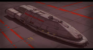 BattleStar Galactica Menoetius Strikestar 2D by AdamKop