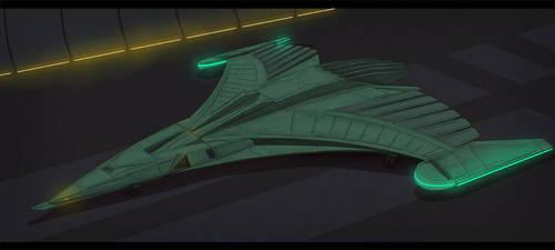 Star Trek Romulan Fighter by AdamKop