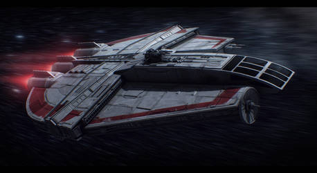 Star Wars Corelli Space Freighter Commission by AdamKop