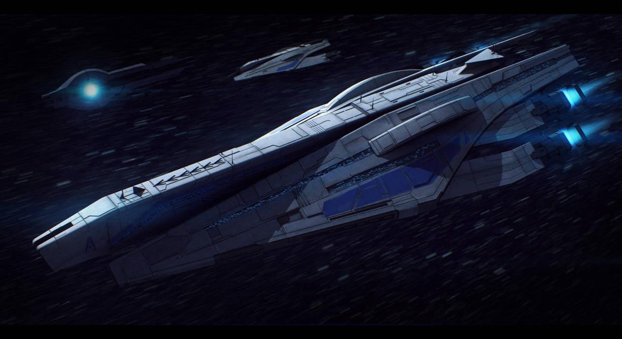 Mass Effect Veracruz-Class Cruiser Commission by AdamKop