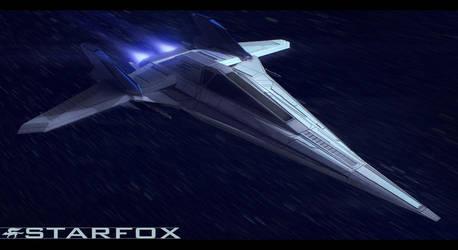 StarFox Arwing redesign by AdamKop