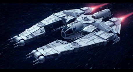 Star Wars VCX-820 escort freighter by AdamKop