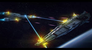 Battle Scene Commission by AdamKop
