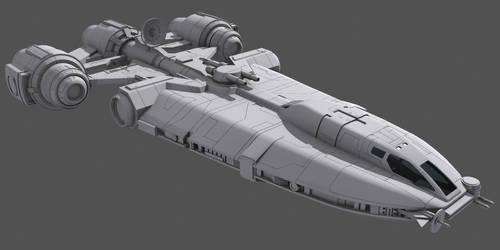 Star Wars Corellian YG-4210 wip by AdamKop