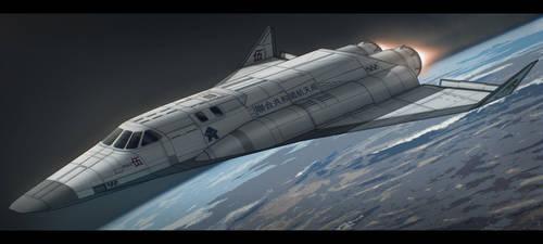 Agni V Space Shuttle by AdamKop