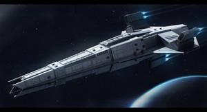 Sci-Fi Cruiser Book Cover by AdamKop