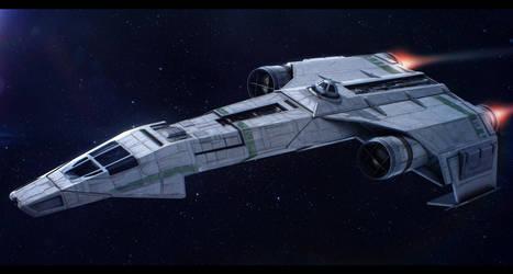 Star Wars Incom/Frei-Tek IFST-21 light freighter by AdamKop
