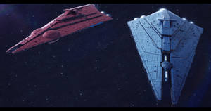 Star Wars Imperator-II Star Destroyers by AdamKop