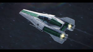 Star Wars RZ-1+ A-Wing Plus Commission by AdamKop