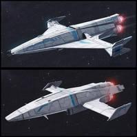 TextSpaced 3D Ship renders - Shuttle variants by AdamKop