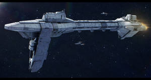 Star Wars Kuat Drive Nebulon-D Escort Frigate by AdamKop