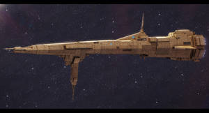 Star Wars Republic Command Ship Reliance by AdamKop