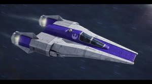Star Wars Incom RZ-1 Mark IV Super A-Wing by AdamKop