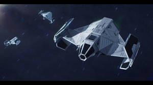 Star Wars Sienar Systems Engineering TIE/SF by AdamKop