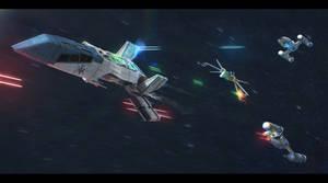 Star Wars scene: 'Not in our sector!' by AdamKop