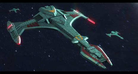 Star Trek Vor'cha-class Attack Cruiser by AdamKop