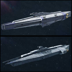 Textspaced 3D ship renders - Capital Ship variants by AdamKop