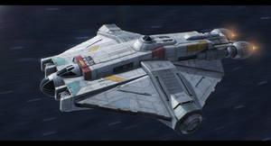 Star Wars Rebels - VCX100 'Ghost' by AdamKop