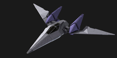 Starfox Arwing redesign WIP by AdamKop