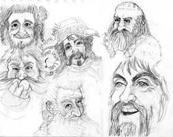 The Hobbitsketches by Creepybooh