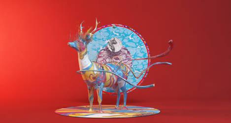 Uvestudio Deer by Youjimbo