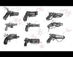 gun concepts pass 1 by ZipDraw