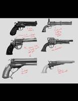 Gun concepts 2nd pass by ZipDraw