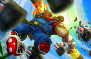 Epic Mario by ZipDraw