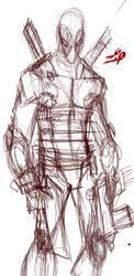 Deadpool Phone Sketch by ZipDraw